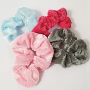 New 3/$20 Set of 4 Velour Scrunchies